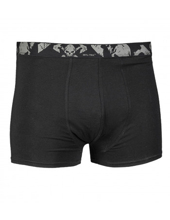 2 Pack Boxer Shorts Skull Black by Tech Wear