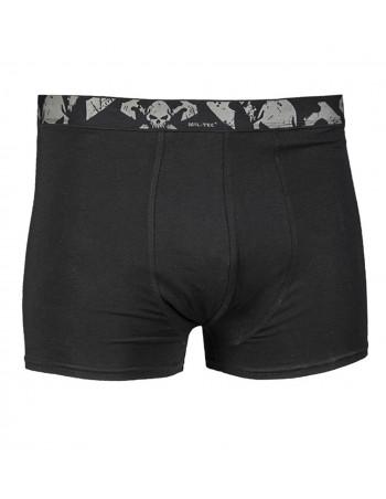 2 Pack Boxer Shorts Skull Black by Tech Wear