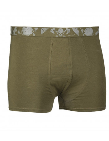 2 Pack Boxer Shorts Skull Olive by Tech Wear