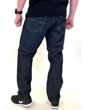 Classic Denim Jeans Raw Black Baggy