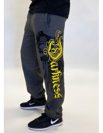 Darkness Graffitti Sweatpants Charcoal Grey by BSAT