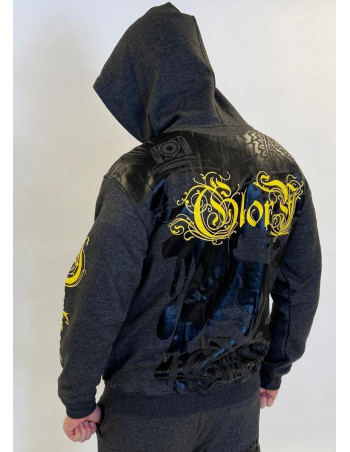 Darkness Glory Graffitti Hoodie Charcoal Grey by BSAT