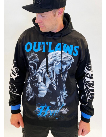 Outlaws Chica Hoodie Black by BSAT