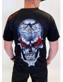 BSAT Skull on Fire T-Shirt Black
