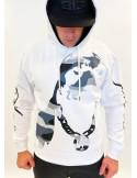 Urban Camo Dog Hoodie White by Pitbos