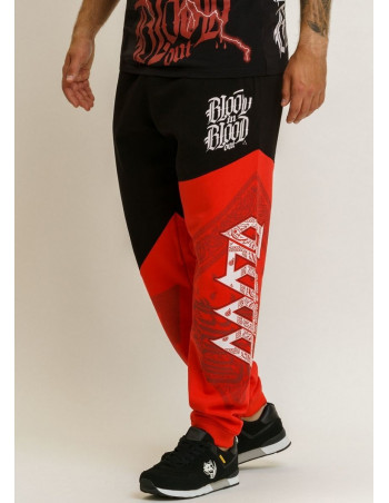 Urban Sweatpants BlackNRed by Blood In Blood Out