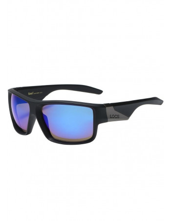 LOCS Sunglasses Blue Mirror Black