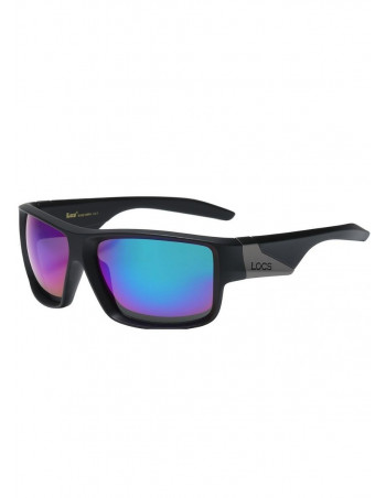 LOCS Sunglasses Purple Mirror Black