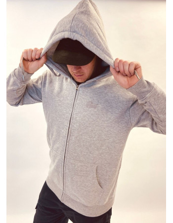 BSAT Plain Zip Hoodie Grey
