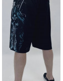 Dark Praying Skull Mesh Shorts by BSAT