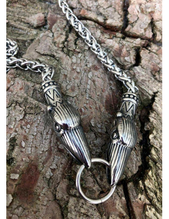 Raven Viking Necklace