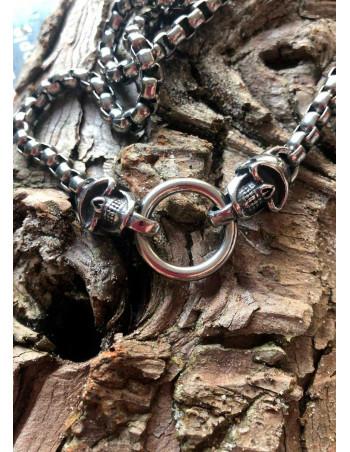 Viking Skull Helmet Necklace