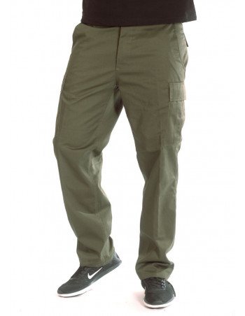 Olive Cargo Pants Regular Fit by Tech wear