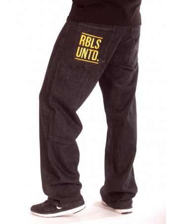Plain Rbls Untd Jeans BlackNGold