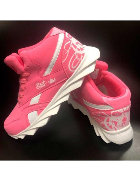 Skull Race Sneakers PinkNWhite by BSAT