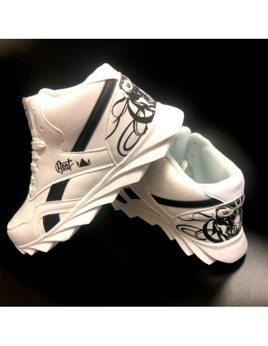 Skull Race Sneakers WhiteNBlack by BSAT