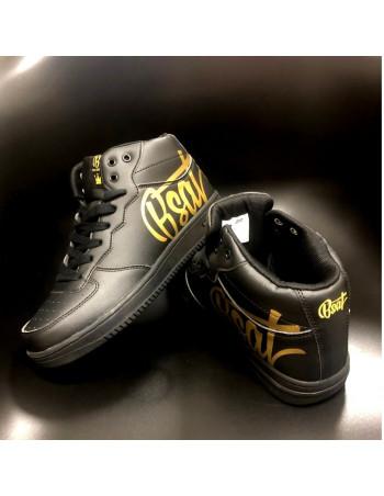 BSAT Logo Sneakers BlackNGold