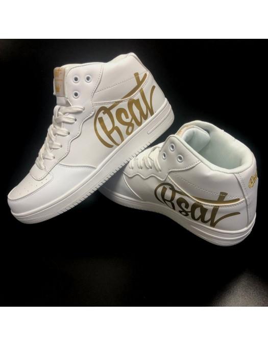 BSAT Logo Sneakers WhiteNGold