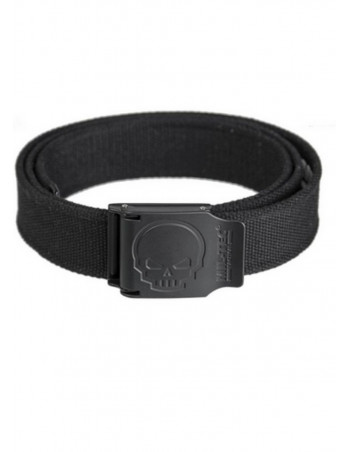 Skull Cotton Belt Black by Tech Wear