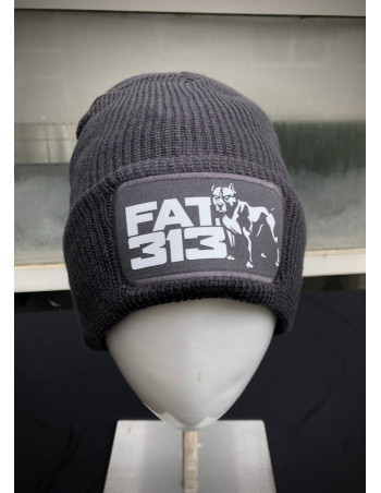 FAT313 Logo Beanie Grey