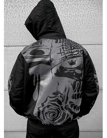 Street Art Winter Jacket BlackNGrey by BSAT