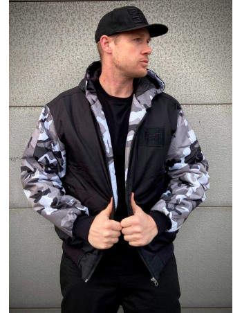 BSAT Bronx Winter Jacket BlackNCamo Vol.2