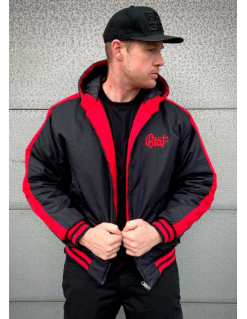Bronx Winter Jacket BlackNRed by BSAT