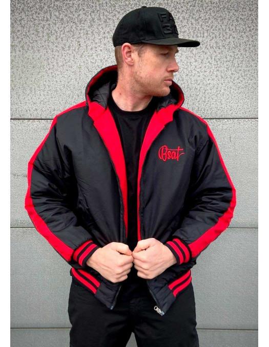 Bronx Winter Jacket BlackNRed by BSAT
