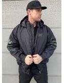 Street Art Winter Jacket BlackNGreen by BSAT