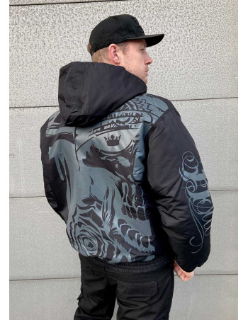 Street Art Winter Jacket BlackNGrey by BSAT