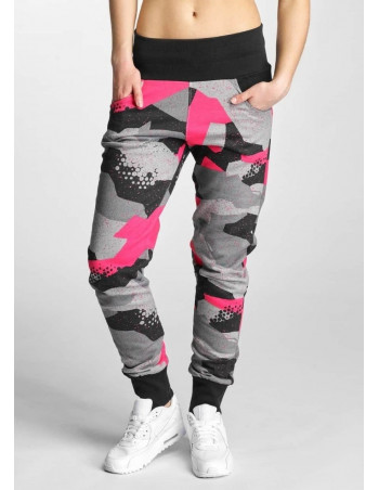 Camo Sweatpants Grey/Black/Pink