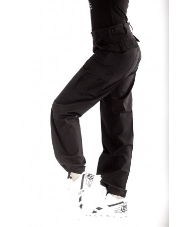 Woman Cargo Pants Black by Tech Wear