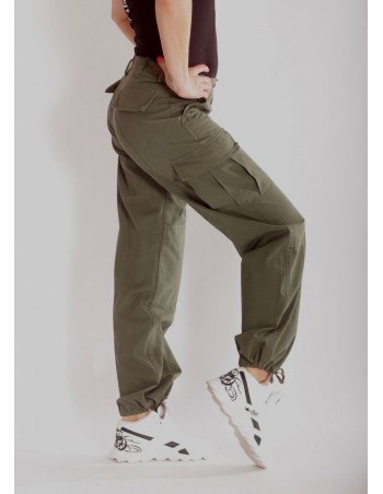 Woman Cargo Pants Olive by Tech Wear