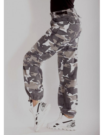 Woman Camo Cargo Pants Urban by Tech Wear