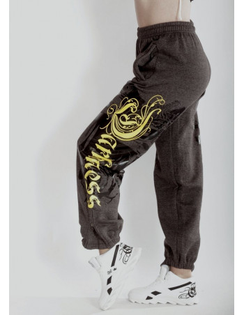 BSAT Darkness Graffitti Sweatpants Charcoal Grey