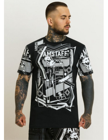 Amstaff edgy Logo T-Shirt BlackNWhite