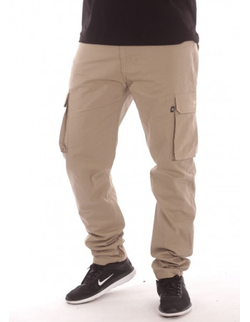 BSAT Tapered Fit Cargo Pants Beige Extra Long