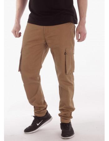 BSAT Tapered Fit Cargo Pants Dark Khaki Ekstra Long