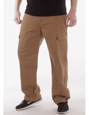 BSAT Combat Cargo Pants Dark Khaki Baggy Fit