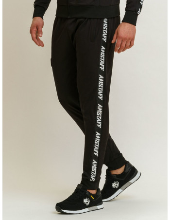 Striped Logo Track Pants by Amstaff Black