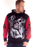 Day of the Dead Hoodie Red by BSAT