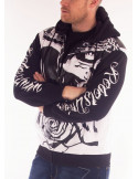 Rebels Union ZipHoodie WhiteNBlack by BSAT *LTD.EDITION*