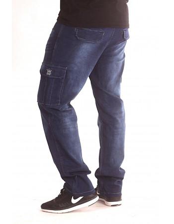 Denim Cargo Pants Dark Blue by BSAT