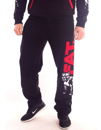 FAT313 Legend Sweatpants Black RedNWhite