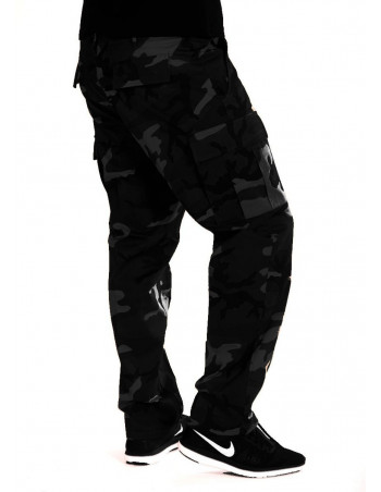 Dark Camo Cargo Pants Regular Fit by Tech Wear