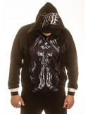 Black Praying Skull ZipperHoodie by BSAT