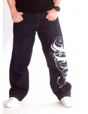 BSAT Art Script Logo Jeans Dark Blue