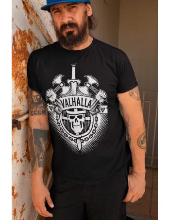 Valhalla T-shirt Front White by Nordic Nation Premium Cotton