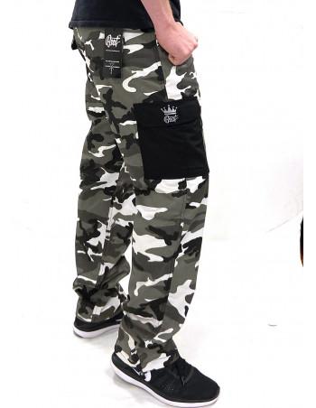 BSAT Regular Fit Urban Ice Camo Black Details