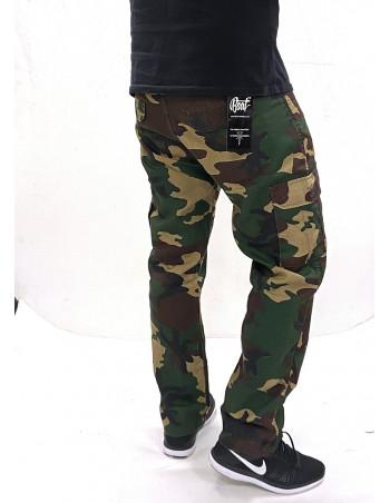 BSAT Regular Fit Combat Cargo Pants Lightweight Woodland